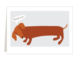 Dachshund note card set thank you cards