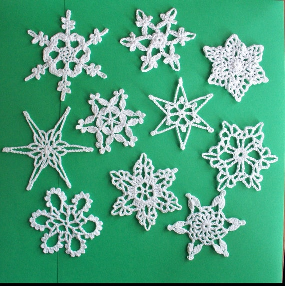 Christmas In July.  10 Small Snowflakes