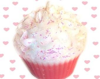 Pink Birthday Cake Cupcake Candle Creamy Vanilla Bakery Scent