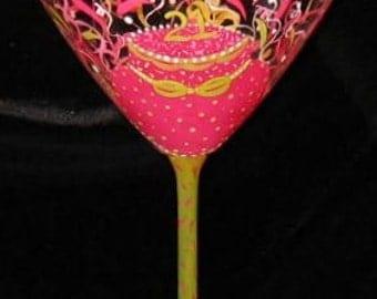 Personalized Hand Painted 21st Birthday Martini Dishwasher Safe