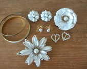 10 piece VINTAGE lot - White, Gold, and Shimmer