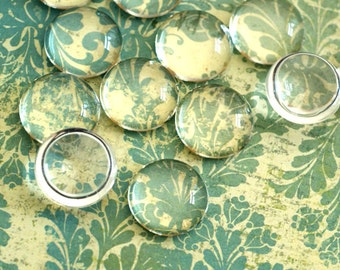 10pcs 20mm Glass Transparent Clear Round Cabochon Cameo Cover Cabs GGLA-G007