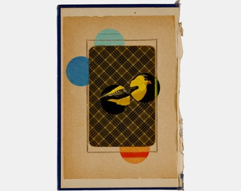 """art print - collage """"canary"""""""