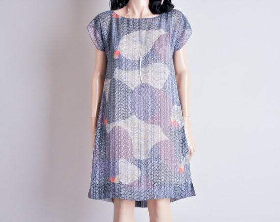 sheer art print mini tent dress / s / summertime sadness dress