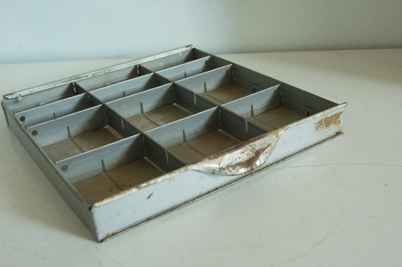 Metal drawer from tool box - good for display