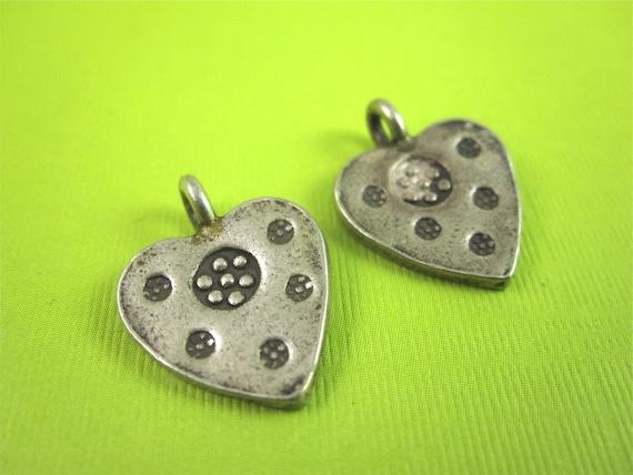 Lot of 2 Bali Sterling Silver Heart Charms DESTASH Sale