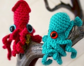 Baby Octopus and Squid crochet pattern
