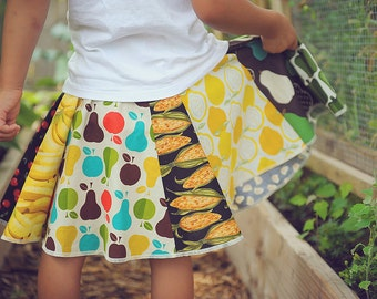 Going to Market - flare toddler girls skirt  3T - 6Y