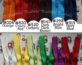 """You choose 50 of YKK Nylon Zippers from  11""""  - MIX and MATCH"""