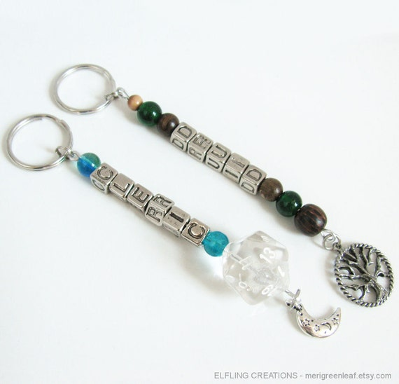 Pair of D&D Keychains Cleric and Druid - RESERVED for Nikos