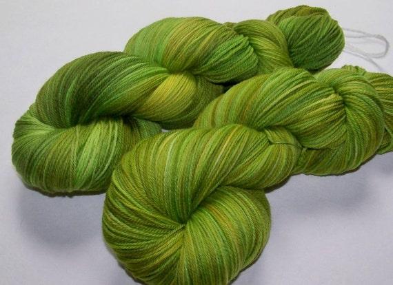Handpainted Ultra Merino Superwash Sock/Fingering -- Salad Greens