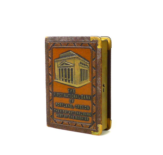 Antique Advertising Coin Bank from The First International Bank of Portland