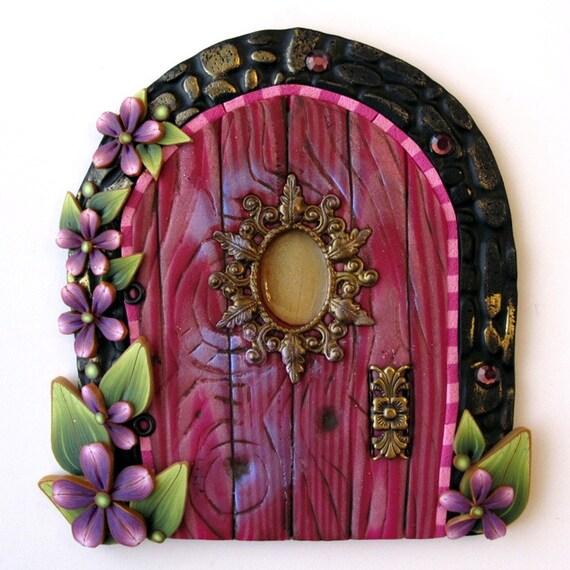 Pink princess fairy door kids home decor wall art for Fairy door wall art