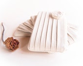 Wedding Clutch Purse, Ivory cottage chic bridal clutch, Bridesmaid Gift Idea Clutch, more colors available
