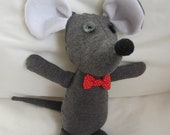 Gentleman Mouse softie toy pattern