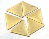 Brass Triangle Engravable Charm Findings (6X) (M888) - EpochBeads