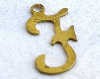 Vintage Brass Script Initial Letter F (12X) (A636)