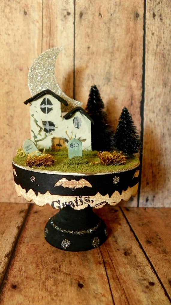 Items similar to haunted cupcake cottage kit diy craft for Easy halloween crafts to make and sell
