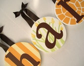 """6 custom 8"""" Round Baby Kids Nursery Hanging Wall Letters reserved for shellie myers"""