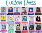 Jam Clothing Co.  Custom BASIC Upcycle Dress -- you send in tee size 12m - 10 years