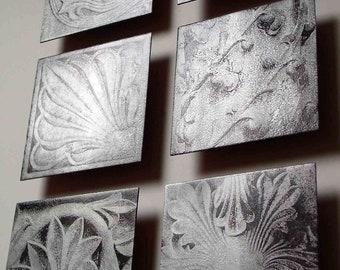 SET OF SIX Architectural Details metal art photos