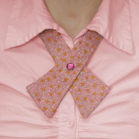 SALE Womens Neck Tie - Pink Retro Bubbles