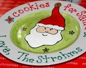 Personalized Cookies for Santa Claus Plate Custom with your family's or your children's names