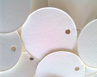 Circle Tags, Gift Tags, Set of 50, Product Tags, Merchandise Tag, Price Tag, Wedding Tag