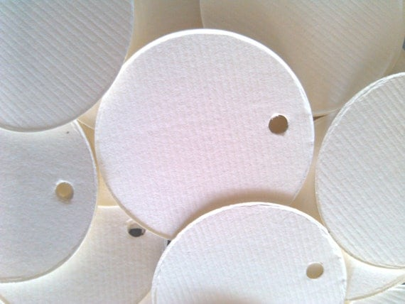 Circle tags, Soft White , price tags, gift tags, favor tags, set of 50