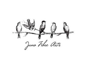 Birds on a tree Branch custom Rubber Stamp