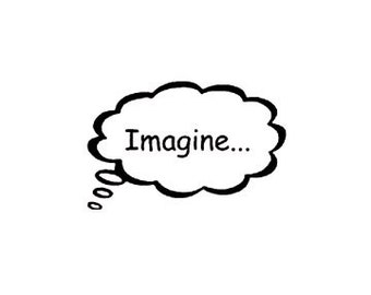CLEARANCE Thought bubble Imagine... Rubber Stamp