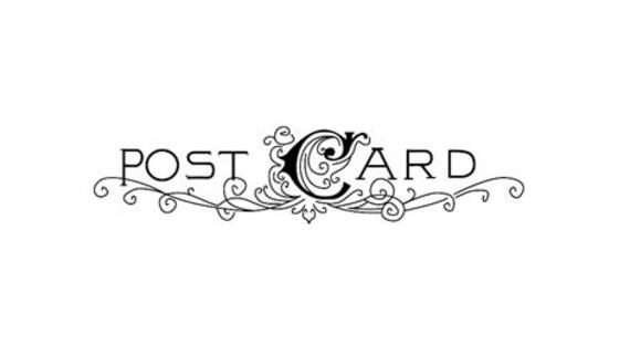 vintage postcard header postcard rubber stamp