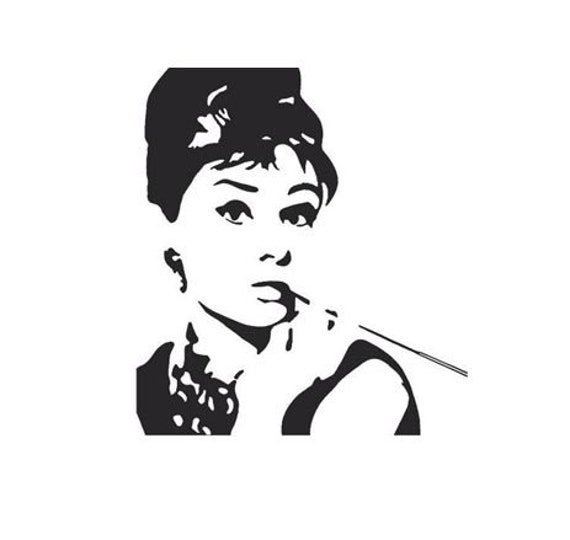 Audrey Hepburn Rubber Stamp Breakfast at Tiffanys