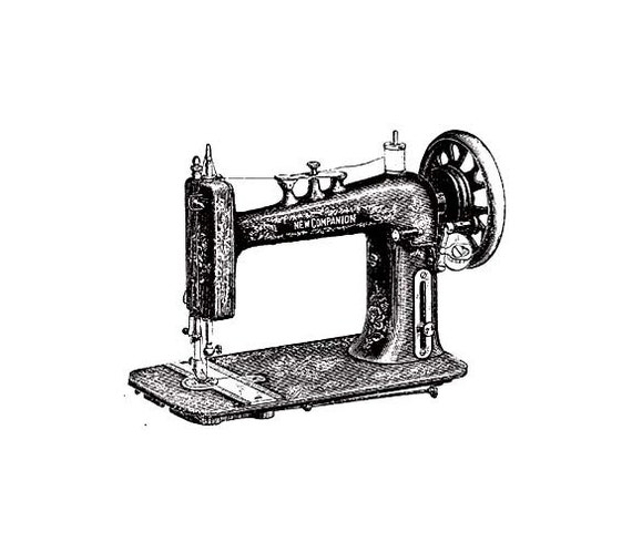 CLEARANCE ANTIQUE Sewing Machine rubber Stamp VINTAGE