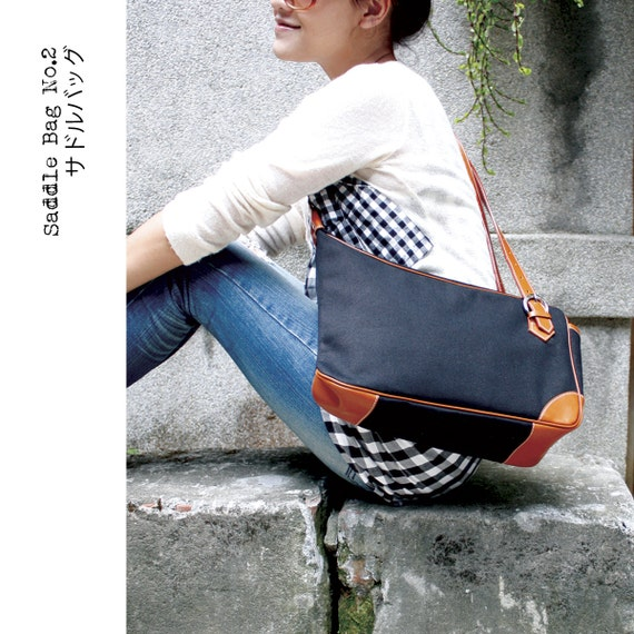 QUOTE 2 ways leather Saddle Bag serie 2 --- Black