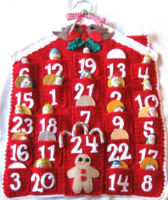 Knitting Pattern Christmas Advent Calendar : ADVENT CALENDAR Crochet Pattern Christmas Holidays PDF Instant