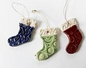 Christmas Stockings Ornaments - Set of Three