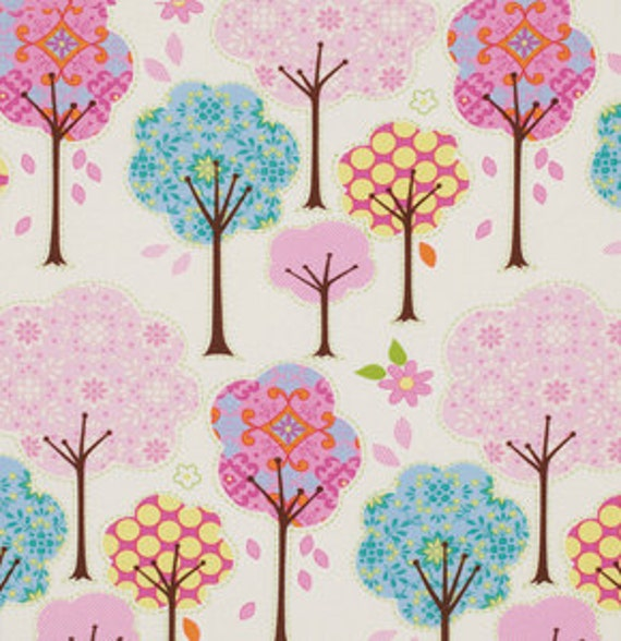 Dena Designs, Pretty Little Things, Trees Cream Fabric - By the Yard