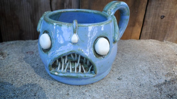 The Mighty Angler Fish Handmade Stoneware mug