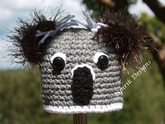 Instant Download Crochet Pattern for Little Koala Bear Hat for Baby Toddler Photo Prop Animal Woodland