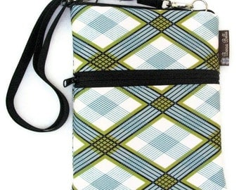 Kindle 4 Case / Kindle Fire Cover / Kindle Touch Bag / Nook Bag / Padded eReader Case / TRAVEL BAG  fits WITH Cover- Argyle Fabric