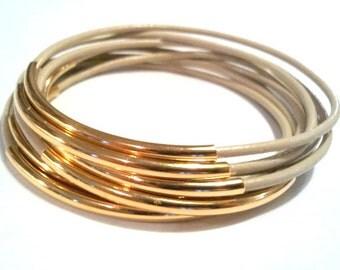 Leather Bracelet - Leather Bangle - tan Bangle - beige Leather Bracelet - Boho Bracelet - Boho Leather Bracelet - Boho Stackable Bracelets