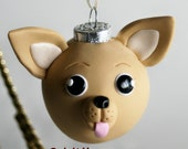 Chihuahua Round Ornament Dog Breed Art Polymer Clay
