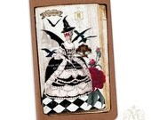 Halloween, Marie Antoinette, Note book, ON SALE, Masquerade Ball, Poison, Moleskine, Crow, Gothic, Black
