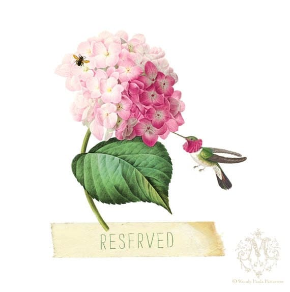 Reserved for MadameHummingbird Vintage Style Gift Tags