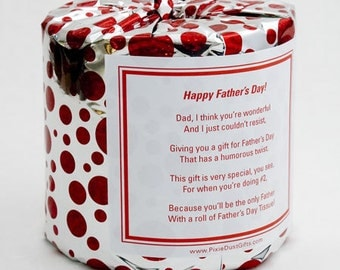 Father's Day Toilet Paper Card - Printable PDF
