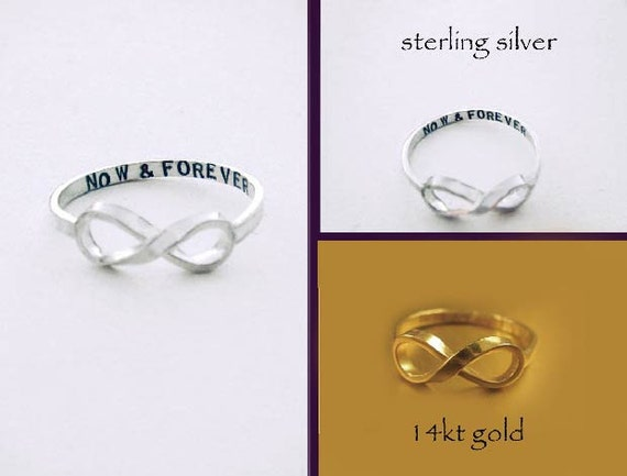 Original NOW & FOREVER Infinity Ring by donnaodesigns