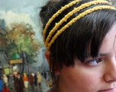 Three Strand Headband- Crochet Hair Accessory