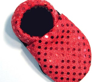 Disco Red Soft Soled Baby Shoes 0-6mo