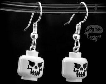 LEGO Skeleton Dangle Drop Earrings